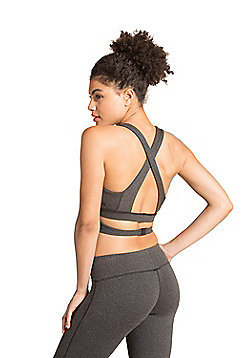 Zakti Knockout Sports Bra - Grey