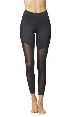 Control Mesh Bottom Gym Leggings Black 4X
