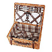 Confidence Picnic Basket Hamper Inc Plates Cutlery Accessories For 4 Person