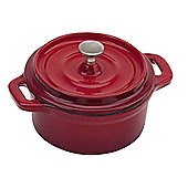 Commichef Cast Iron Mini Cocotte, Red