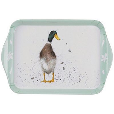 Pimpernel Wrendale Designs Extra Small 21 x 14cm Melamine Scatter Tray, Guard Duck