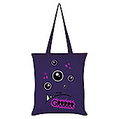 Monstees Monstee - Grumpee Purple Tote Bag