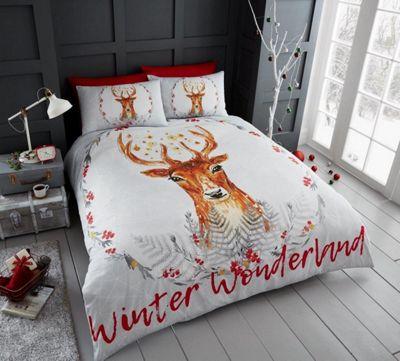 Winter Wonderland 'Christmas' Panel King Bed Duvet Quilt Cover Set