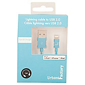 Urban Factory CID33UF 1m USB A Lightning Blue cable
