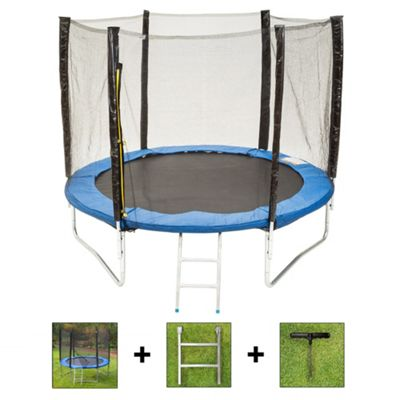 Up and About 8ft Supernova Blue Trampoline Package with Free Ladder and Building Tool