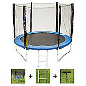 Up and About 8ft Supernova Blue Trampoline Package with Free Ladder, Weather Cover and Building Tool