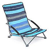Sisken Low Folding Camping Chair - Blue