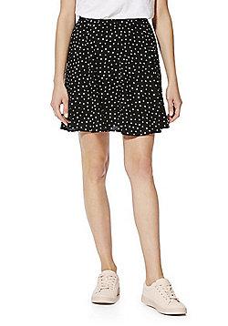 F&F Polka Dot Flippy Skirt - Black & White