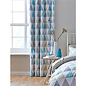 Catherine Lansfield Scandi Geo Eyelet Curtains - Multi