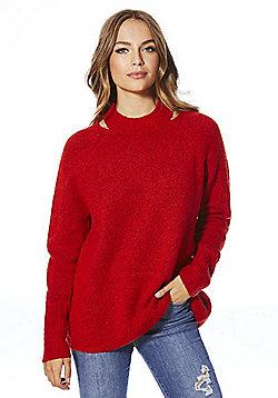 F&F Cut-Out Shoulder Jumper - Red