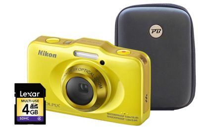 Nikon Coolpix S31 Yellow Camera Kit inc 4GB SD Card and Hard Case