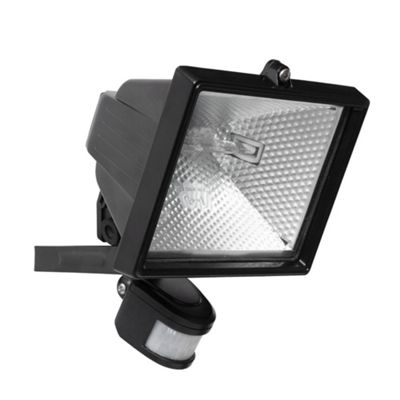 Litecraft Secura Outdoor 400 Watt Security Flood Light with PIR Sensor, Black