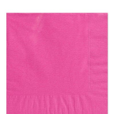 Hot Pink Napkins - Paper Luncheon Napkins - 100 Pack
