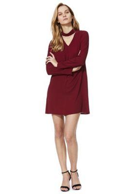 Stella Morgan Choker Dress Burgundy 10