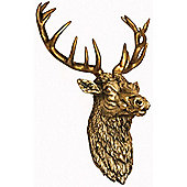 Antique Gold Stags Head