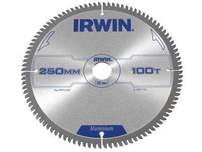 Irwin Professional Circular Saw Blade 250 x 30mm x 100T - Aluminium