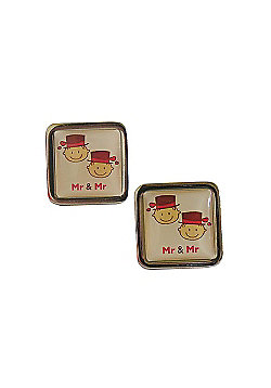 Mr and Mr Smile Cufflinks
