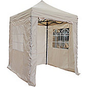 All Seasons Gazebos Heavy Duty, Fully Waterproof, 2m x 2m Standard Pop up Gazebo Package in Beige