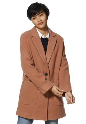 Vero Moda Drop Shoulder Coat Terracotta S