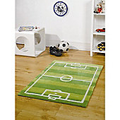 Kiddy Play Football Pitch Green 110x160cm Rug