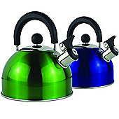 2 Litre Metallic Whistling Kettle Green - Yellowstone