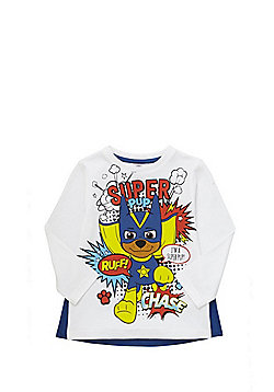 Nickelodeon Paw Patrol Graphic T-Shirt with Cape - White & Blue