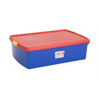 Wham 13.01 Clip 30L Box & Lid Blue/Red (Yellow clips) - Pack of 3