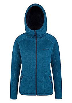 Mountain Warehouse Womens Hoodies Soft Fleece Lining with Adjustable Hood - Green
