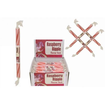 20 Small Flavoured Rock Sticks - Rasberry Ripple Flavour