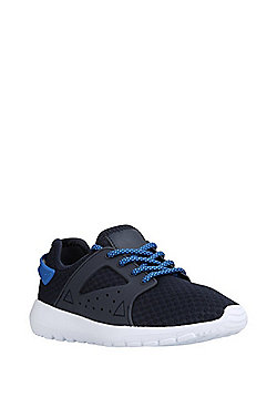F&F Mesh Lace-Up Trainers - Blue