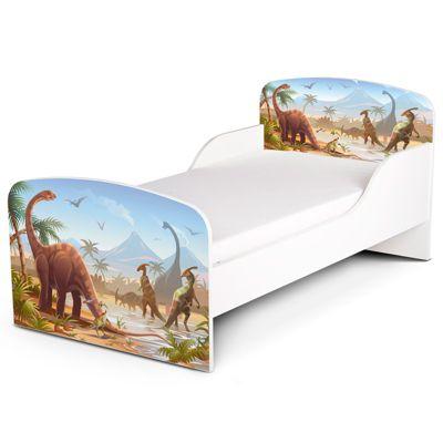 PriceRightHome Jurassic Dinosaurs Toddler Bed & Foam Mattress
