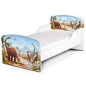 PriceRightHome Jurassic Dinosaurs Toddler Bed & Foam Mattress