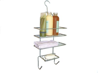 3 Tier Shower Caddy, Made from Chrome Plated Steel