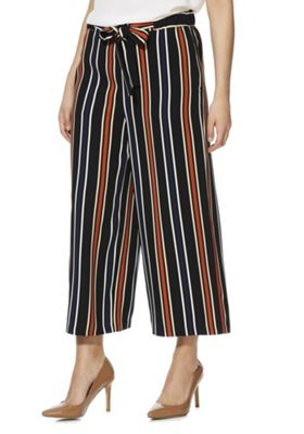 F&F Striped Cropped Culottes Multi 12