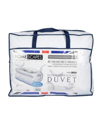 Homescapes Duck Feather and Down Duvet 15 Tog Super King Size Toasty Winter Luxury Quilt