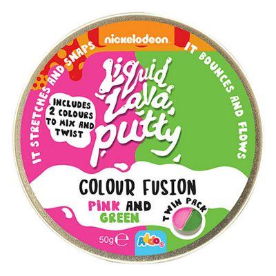 Nickelodeon Liquid Lava Putty Colour Fusion Pink & Green