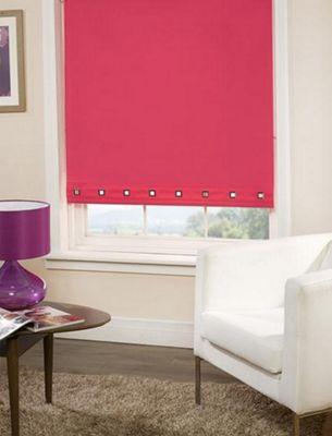 Roller Blind Square Eyelet Detail - Cerise Pink- 60 cm wide x 165 cm drop