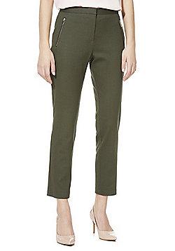 F&F Slim Fit Ankle Grazer Trousers - Khaki