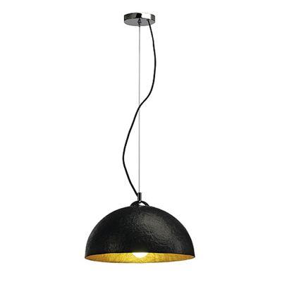 Forchini Pendant Ceiling Light Round Black/Gold Max. 40W