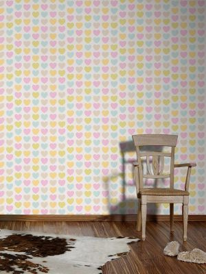 Pastel Hearts Wallpaper AS Creation 93566-2