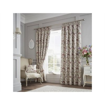 Curtina Purple Berrington Pencil Pleat Curtains - 90x72 Inches (229x183cm)
