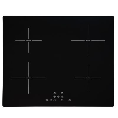 SIA 60cm 4 Zone Black Touch Control Induction Hob | 99min Timer & Child Lock