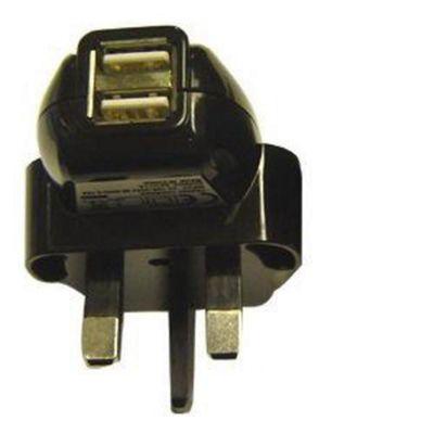 U-bop Twin-Port Mains USB Travel Charger