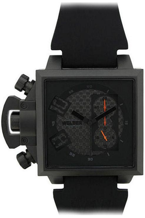 Welder Gents Black Dial Black Rubber Strap Watch K25-4704