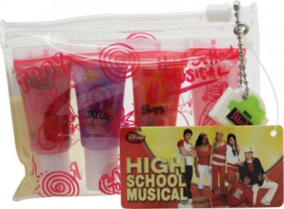Disney High School Musical Gift Set 4 Lip Gloss + Bag For Women