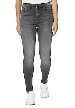 F&F Contour High Rise Super Skinny Jeans with LYCRA® BEAUTY - Grey