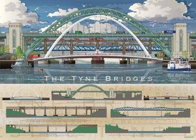 The Tyne Bridges - 1000pc Puzzle