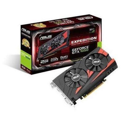 Asus NVIDIA GeForce GTX 1050 EX-GTX1050-2G 2 GB GDDR5 128 Bit Memory HDMI/DP/DVI PCI Express 3 Graphics Card - Black