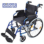 Aidapt Deluxe Lightweight Self Propelled Aluminium Wheelchair in Blue
