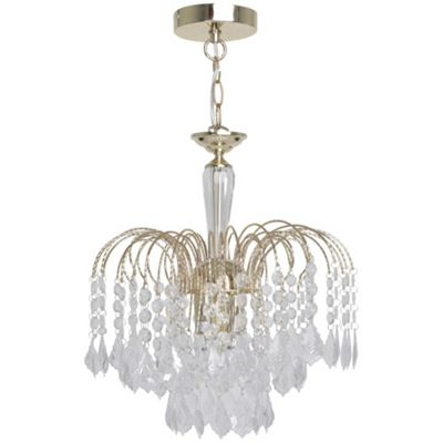 Kliving Sardinia Polished Brass Chandelier